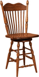 Hoosier Hardwood Swivel Bar Stool