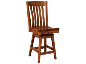 Houghton Hardwood Swivel Bar Stool