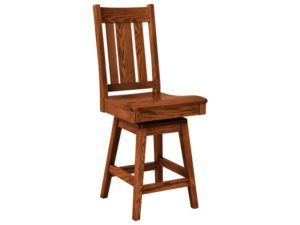 Jacoby Hardwood Swivel Bar Stool
