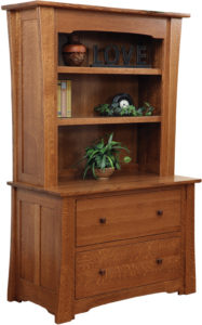 Jamestown Lateral File with Bookshelf Hutch