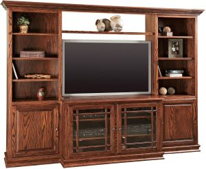 Jason Heritage TV Console with Bookcases