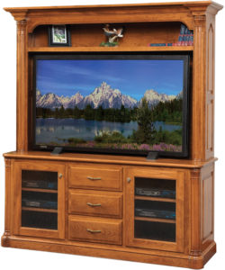 Jefferson Plasma TV Stand with Hutch