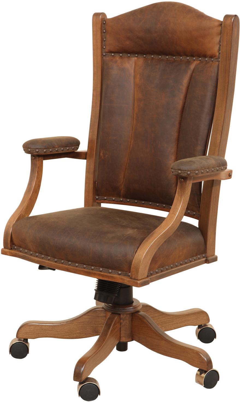 Jefferson Desk Chair Custom Amish Jefferson Office Chair