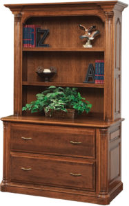 Jefferson Lateral File Cabinet with Bookshelf