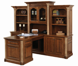 Jefferson 3-Piece Hutch-Desk Set