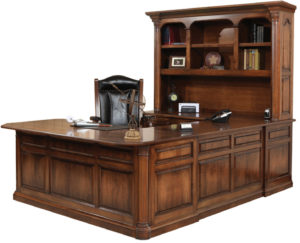 Jefferson Hutch and U-Shape Desk
