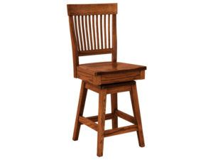 Jefferson Hardwood Swivel Bar Stool
