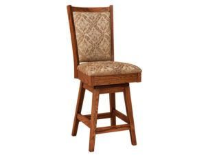 Kalispel Hardwood Swivel Bar Stool