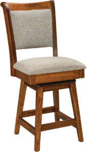 Kimberly Hardwood Swivel Bar Stool