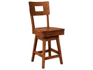 Kirkland Hardwood Swivel Bar Stool