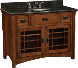 Landmark Medium Single Sink Cabinet