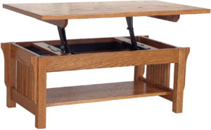 Landmark Lift-Top Oak Coffee Table
