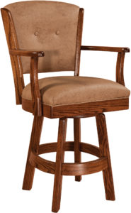 Lansfield Hardwood Swivel Bar Stool
