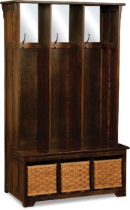Lattice Weave Hall Wood Seat