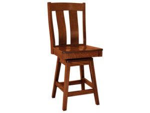 Laurie Hardwood Swivel Bar Stool