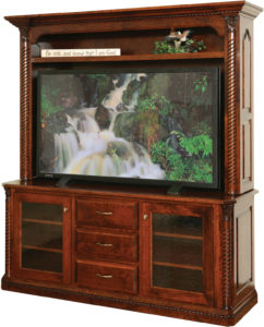 Lexington 68 Inch Plasma TV Stand with Hutch