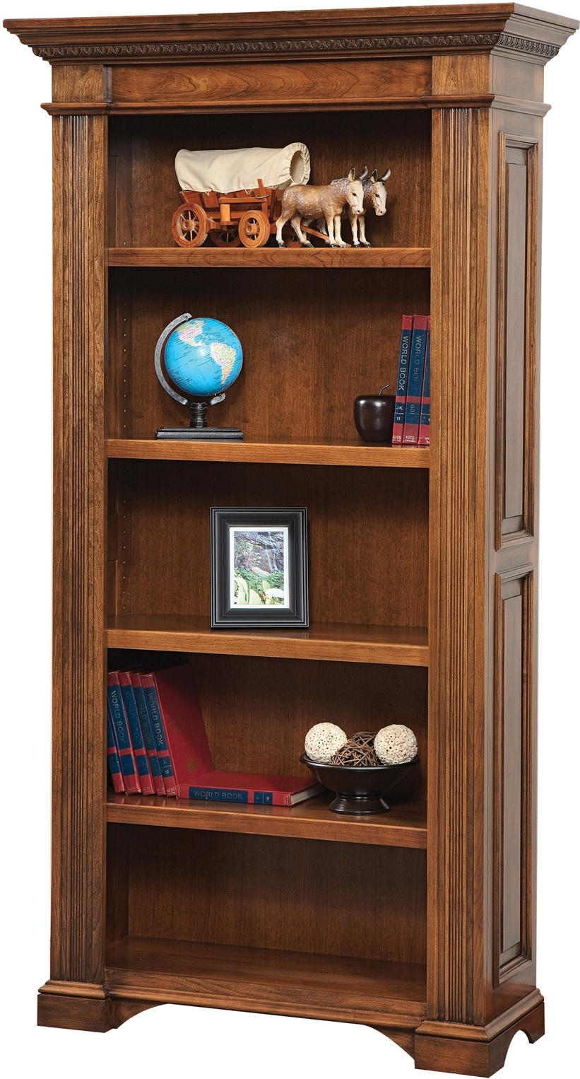 Lincoln Wood Bookcase | Custom Amish Lincoln Tall Bookcase
