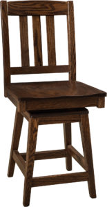 Lodge Hardwood Swivel Bar Stool