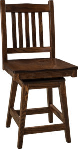 Logan Hardwood Swivel Bar Stool