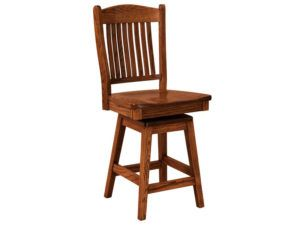 Lyndon Hardwood Swivel Bar Stool