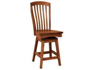 Malibu Hardwood Swivel Bar Stool