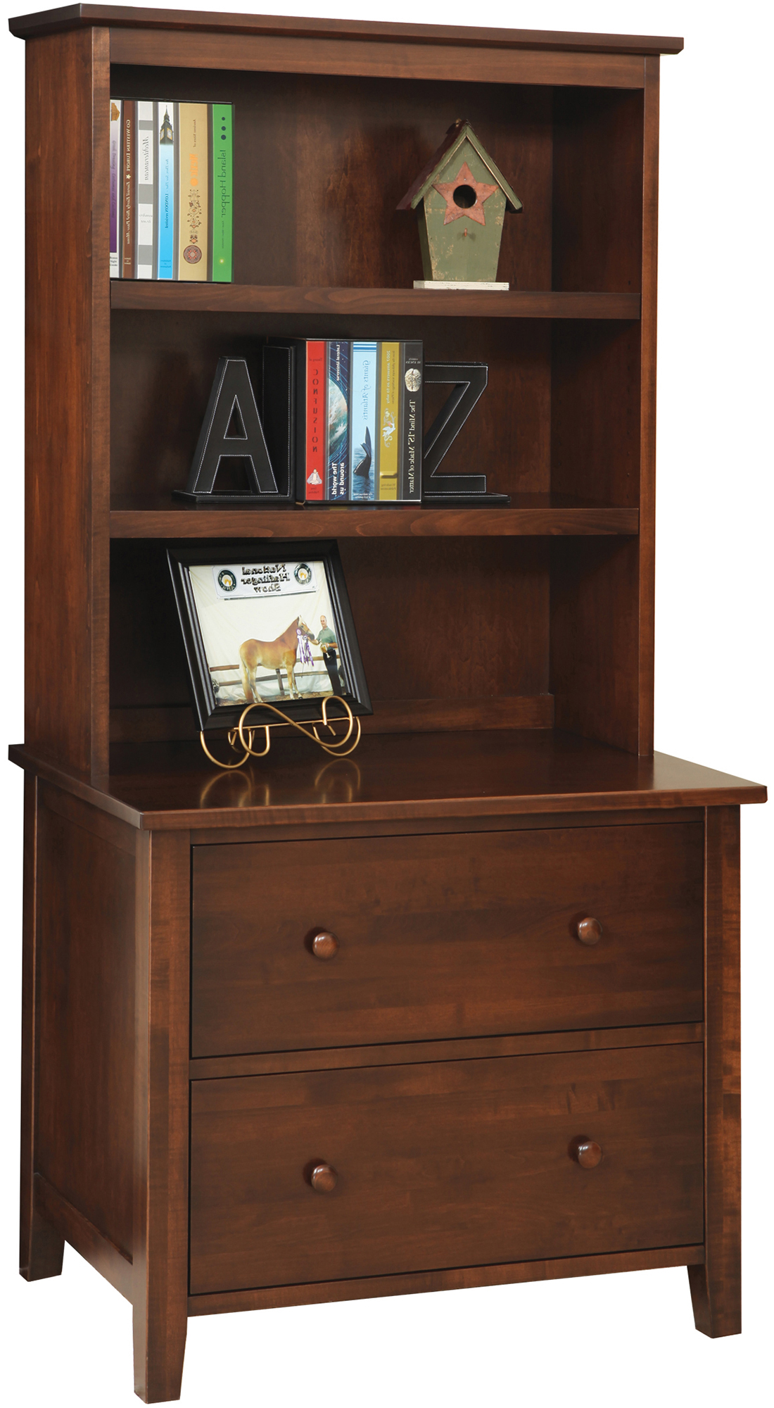 Manhattan Lateral File Cabinet With Hutch Amish