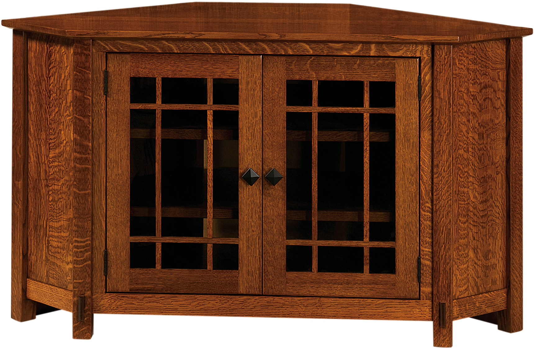 Amish Mccoy Corner TV Cabinet & McCoy Two Door TV Corner Cabinet | Customized Amish Furniture