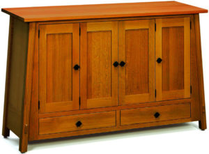 McCoy Wood Leaf Storage Cabinet