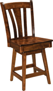 Meridan Hardwood Swivel Bar Stool