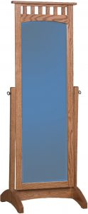 Hardwood Mission Cheval Mirror