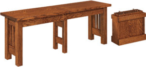 Mission Hardwood Dining Bench