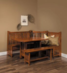 Mission Hardwood Breakfast Nook
