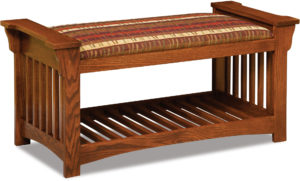 Mission Slat Wood Bench