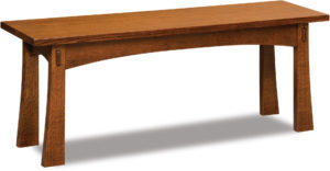Modesto Wood Trestle Bench