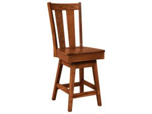 Newberry Hardwood Swivel Bar Stool