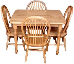 Bow Sheaf Child Table and Four Sheaf Chairs
