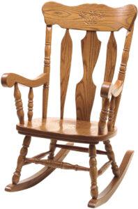 Wooden Oak Daisy Rocker