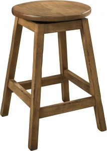 Oakley Hardwood Swivel Bar Stool