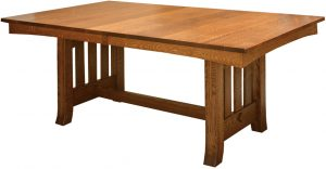 Old Century Slatted-Trestle Table