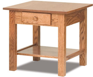 Open Mission End Table