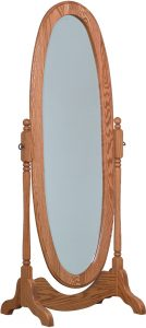 Hardwood Oval Cheval Mirror