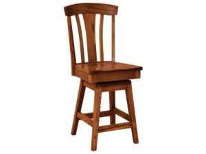 Parkway Hardwood Swivel Bar Stool