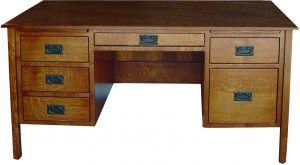 Post Amish Mission Flat Top Desk
