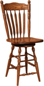 Post Paddle Hardwood Swivel Bar Stool