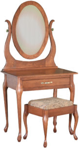 Queen Anne Dressing Table and Mirror