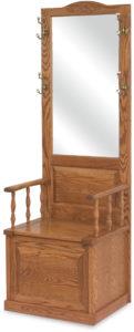 Raised Panel Hall Wood Seat