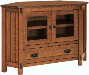 Rio Mission Small Corner TV Stand