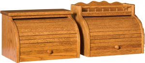 Rolltop Wood Bread Box
