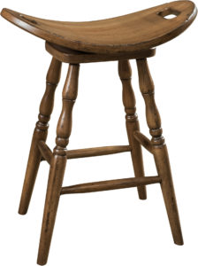 Saddle Hardwood Swivel Bar Stool
