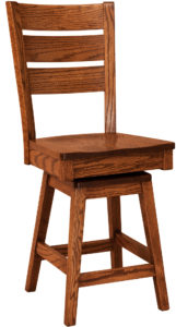 Savannah Hardwood Swivel Bar Stool